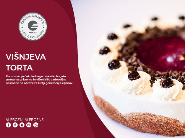 Višnjeva torta 14-18 kosov (39,00€)