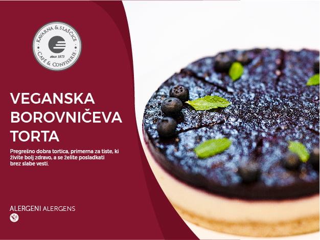 Veganska borovničeva torta 6-8 kosov (29,40€)