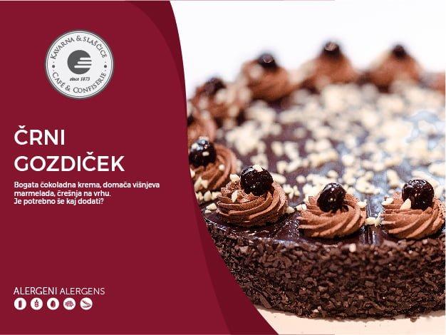 Črni gozdiček torta 14-18 kosov (39,00€)