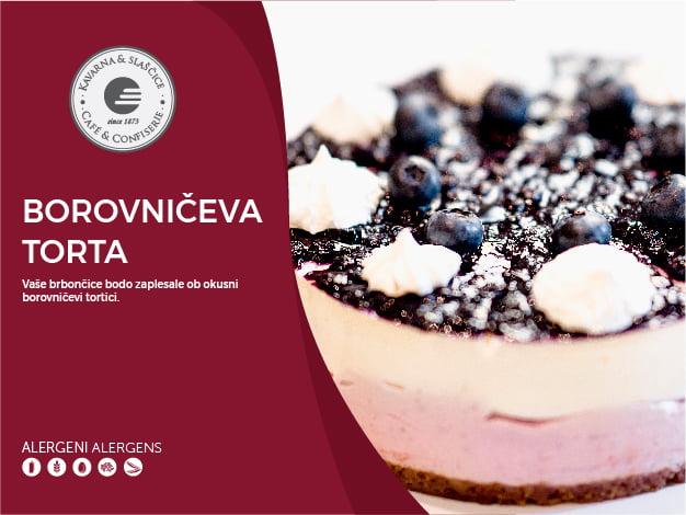 Borovničeva torta 8-10 kosov (23,00€)