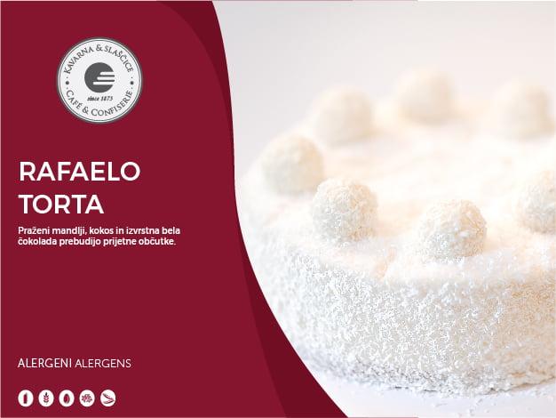 Rafaelo torta 8-10 kosov (23,00€)