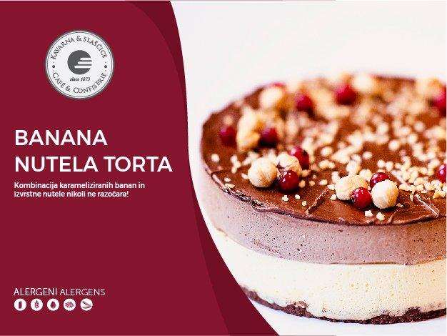 Banana-Nutela torta 8-10 kosov (23,00€)