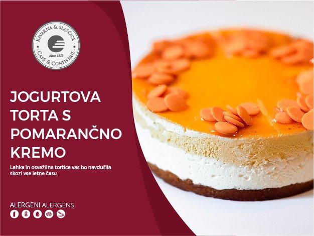 Jogurtova torta s pomarančno kremo 8-10 kosov (23,00€)