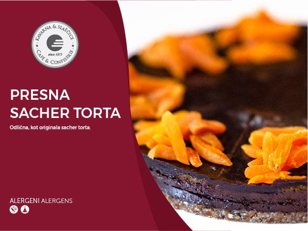 Presna Sacher torta 8-10 kosov (39,20€)