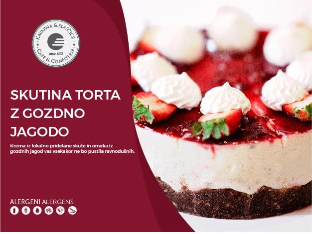 Skutina torta z gozdno jagodo 8-10 kosov (23,00€)