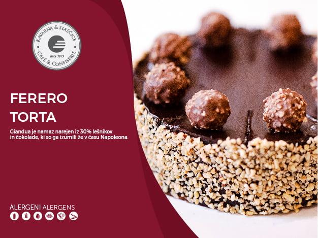 Ferero torta 8-10 kosov (23,00€)